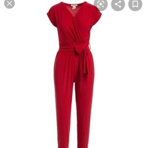 Rolla Coster red belted jumpsuit